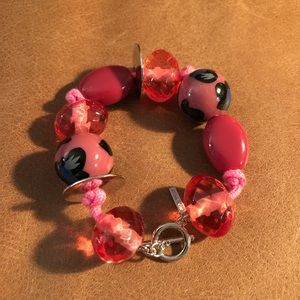 Nine West pink bauble bead toggle bracelet